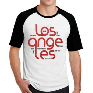 Camiseta Raglan Los Angeles