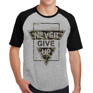 Camiseta Raglan Never Give Up