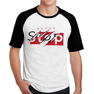 Camiseta Raglan Never Stop