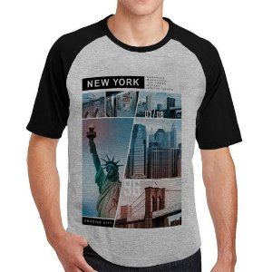 Camiseta Raglan New York