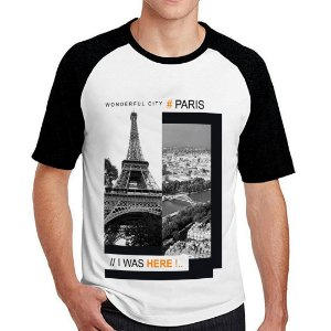 Camiseta Raglan Paris