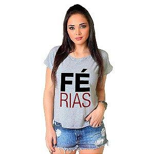 Camiseta T-shirt  Manga Curta Férias