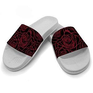 Chinelo Slide Rosas