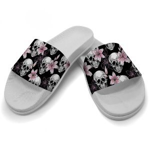 Chinelo Slide Caveira Black