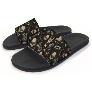 Chinelo Slide Rock and Roll