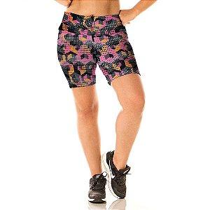 Shorts Estampado Geométrico Alta Perfomance