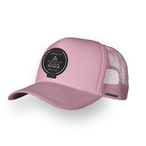 Boné Trucker Brooklyn Rosa