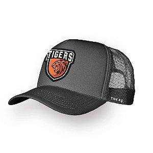 Boné Trucker Tigers Chumbo