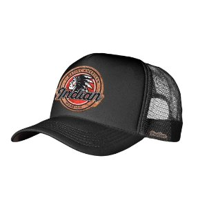 Boné Trucker Indian Warrior Preto