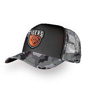 Boné Trucker Tigers Camulfado
