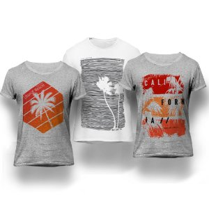 Kit California 3 Camisetas