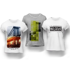 Kit 3 Camisetas Believe