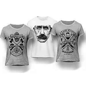 Kit 3 Camisetas Barber