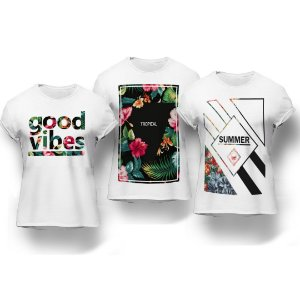 Kit 3 Camisetas Good Vibes