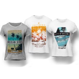 Kit 3 Camisetas Surf California