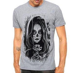 Camiseta Manga Curta Caveira Mexicana