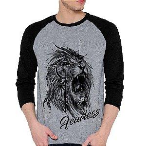Camiseta Manga Longa Leão Tattoo