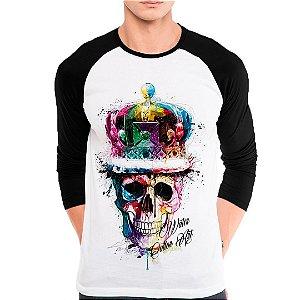Camiseta Manga Longa Caveira Color