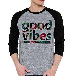Camiseta Manga Longa Good Vibes