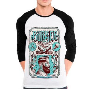 Camiseta Manga Longa Barber Shop Brooklyn