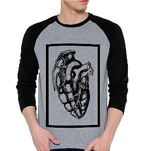 Camiseta Manga Longa Coração Granada