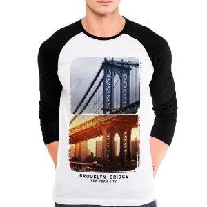 Camiseta Manga Longa Brooklyn Bridg