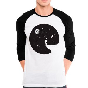 Camiseta Manga Longa Olhando as Estrelas