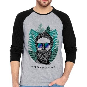 Camiseta Manga Longa Hipster