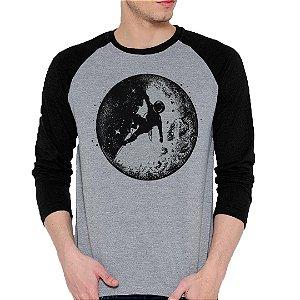 Camiseta Manga Longa Astronauta