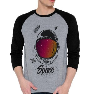 Camiseta Manga Longa Space