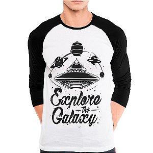 Camiseta Manga Longa Explore the Galaxy