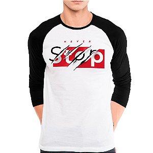 Camiseta Manga Longa Never Stop