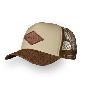 Boné Trucker university Camel