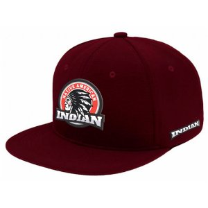 Boné Aba Reta Snapback Indian Bordo