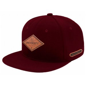 Boné Aba Reta Snapback University Bordo