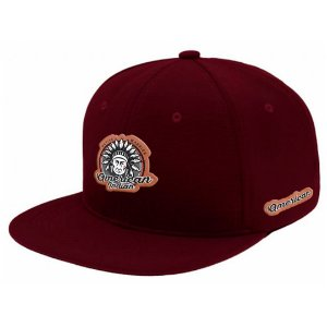 Boné Aba Reta Snapback American Indian Bordo
