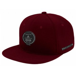 Boné Aba Reta Snapback Brooklyn Bordo