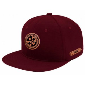 Boné Aba Reta Snapback All Poker Bordo