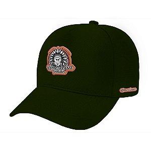 Boné Aba Curva American Indian Verde