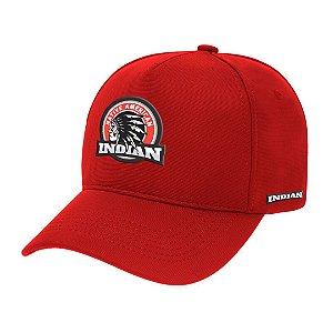 Boné Aba Curva Indian Vermelho
