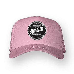 Boné Trucker Athletic Rosa