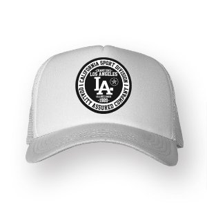 Boné Trucker Los Angeles Branco
