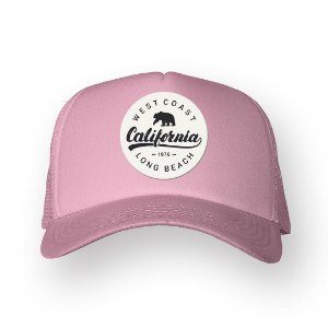 Boné Trucker California Rosa