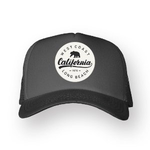 Boné Trucker California Chumbo