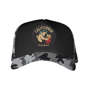 Boné Trucker California Long Beach Camuflado