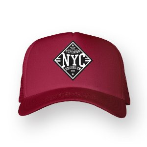 Boné Trucker Superior NYC Bordo