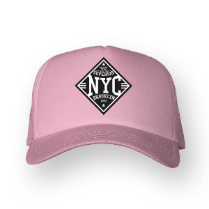Boné Trucker Superior NYC Rosa