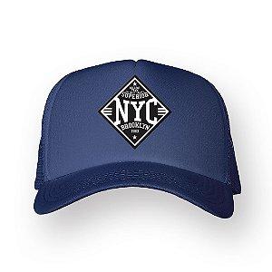 Boné Trucker Superior NYC Marinho