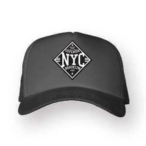 Boné Trucker Superior NYC Chumbo