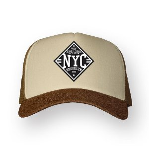 Boné Trucker Superior NYC Camel